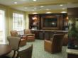The newly renovated Foster Pub provides a comfortable environment for residents and families to socialize.