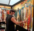 Ronald Wickersham in his studio at the Arizona Fine Art Expo
