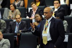 Javed Hamid of Pakistan makes a comment at the 2011 GBSN Annual Conference in Mexico City