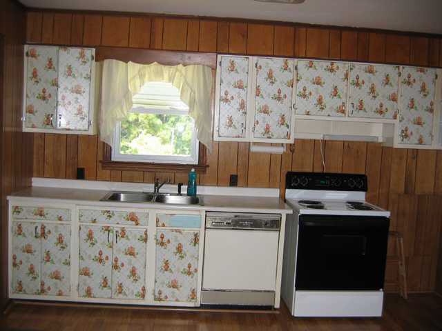 Cover Kitchen Cabinets With Wallpaper