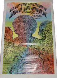 Jimi Hendrix 1968 Philadelphia The Electric Factory Concert Poster