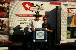 NASCAR legend Richard Petty with Swisstrax President Randy Nelson.