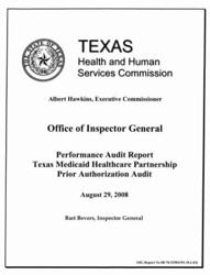 Texas Medicaid Healthcare Partnership  Prior Authorization Audit