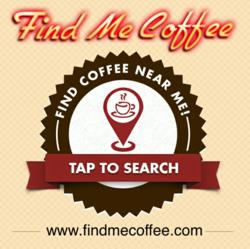 Find Me Coffee App Homescreen