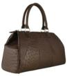 Brown ostrich leather handbag