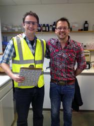 ReAgent Managing Director Richard Hudson with Food Unwrapped presenter Jimmy Doherty