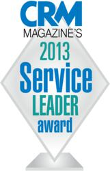 2013 CRM Magazine Service Leader Award