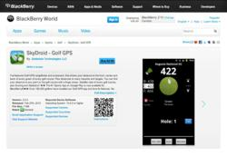 Golf GPS App SkyDroid Launches for Blackberry 10 Using Android Runtime
