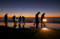 Razor clam, dig, digging, Long Beach Peninsula, Long Beach, WA, Washington, Coast, Dennis Company, Clam Festival
