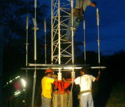 Working around the clock to install LBA antenna system at Paraguay Radio Premiro de Marzo