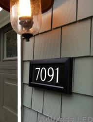 lighted address plaque