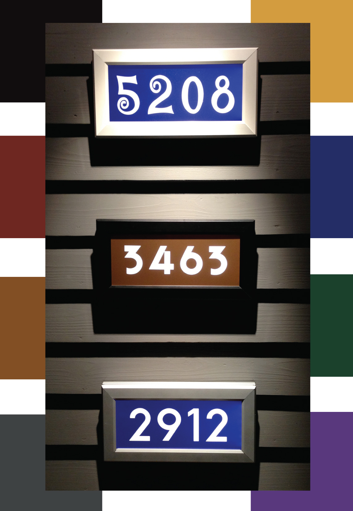 lighted house numbers address led