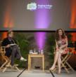 Christine Lange (L) conducts Q & A with Andie MacDowell (R) at Ringling College's Digital Filmmaking Studio Lab - Photo: Jackson Petty