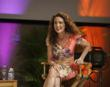 Andie MacDowell answers questions at Ringling College's Digital Filmmaking Studio Lab - Photo: Jackson Petty