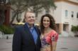 Ringling College President Larry Thompson with Actress Andie MacDowell at Ringling College's Digital Filmmaking Studio Lab - Photo: Jackson Petty