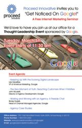 Google Marketing Seminar hosted by Proceed Innovative