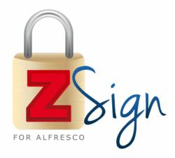 ZSign, secure electronic document signature, digital signatures, alfresco