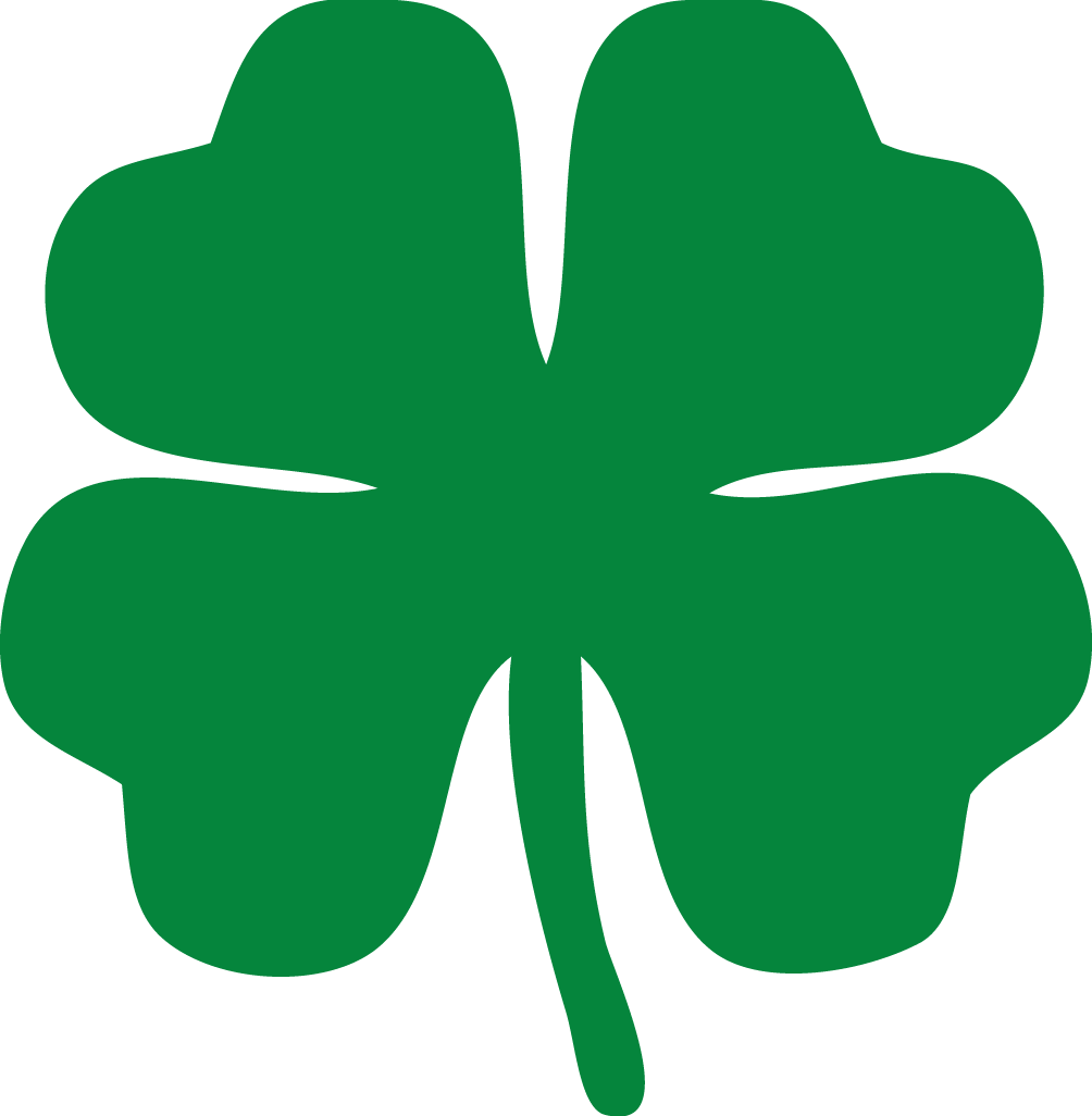 second annual macdecals com 4 leaf clover laptop stickers st