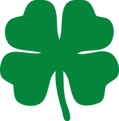 Four Leaf Clover Laptop Sticker