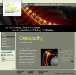 New website for Bolton Osteopath - Alex Green