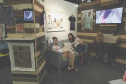 The Printed Palette Booth at the Los Angeles T-shirt Gift Show
