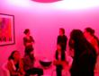 "Previous SAIC Student Tour in Lightology's ""Morpheus Room"""
