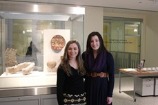 Garrison Forest School seniors at the Johns Hopkins University Archaeological Museum