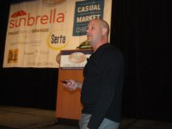 Chad Harris, The Garden Gates, TheGardenGates.com, lifestyle store, Casual Living conference, kill the competition, axe fighter