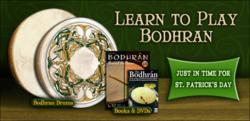 Bodhran Drums and Instructional Books & DVDs available at Cascio Interstate Music