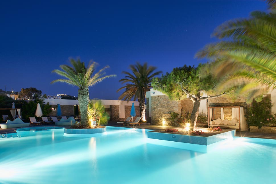 Pool At Mykonos Theoxenia Hotelpool Hotel A Louis Group