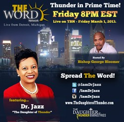 Dr. Jasmin Sculark aka Dr. Jazz - The Daughter of Thunder on The Word Network