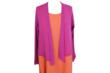 Cut Loose A-Line Hanky Linen Tank Dress in Clementine with Rosa Mesh Cardigan
