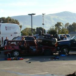 Car wreck disaster training Operation Rolling Chaos Unitek Education Fremont