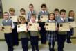 Students from Kindergarten through Grade 8 from Lemont, Homer Glen, Joliet and Orland Park competed in the Catechism Contest at Everest Academy