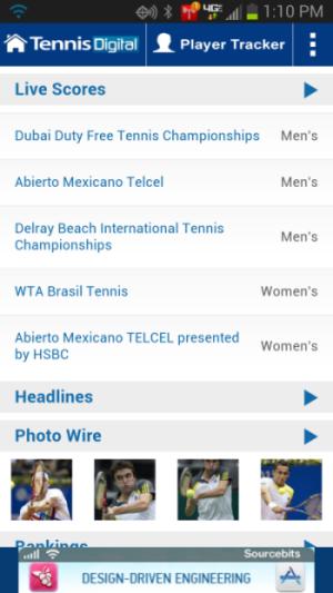Tennis Livescores Android App Launched - TennisDigital com