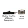 Ultra Thin LED under cabinet light bars from EnvironmentalLights.com