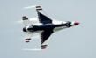 The U.S. Air Force Demonstration Team, the Thunderbirds, perform for the crowd during the 2012 Airpower Over the Midwest air show Sept. 16, 2012, at Scott Air Force Base, Ill. The air show featured nu
