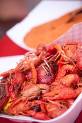 An image of boiled crawfish