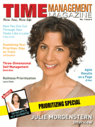 Julie Morgenstern On The Cover Of Time Management Magazine