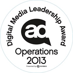 AdMonsters Digital Media Leadership Award
