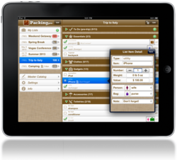 Packing Pro 8.3 on iPad