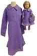Pruple Matching Girl and Doll Prairie Sytle Dresses