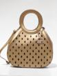 Gold Tear Drop Leather Handbag