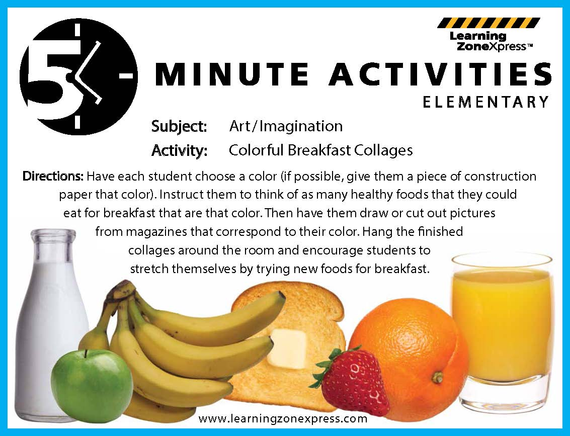 Nutrition Activity for High School