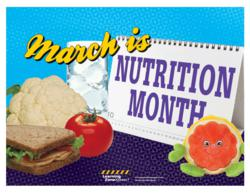 March is National Nutrition Month Sign