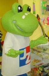 JZ Frog mascot