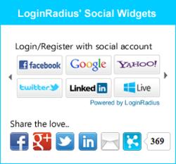 LoginRadius social widgets
