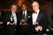 from left: Recipient of the Distinguished Service Award Marvin Markowitz of the MARMAR Group and Factor's Famous Deli, Basketball Hall of Fame legend Isiah Thomas and his foundation Mary's Court, recipient of the Lifetime Humanitarian Award, and Roderick Sherwood III, Chairman and CEO of Cinémoi North America, recipient of the Corporate Excellence Award.