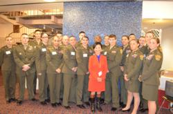 Youth members of the Young Marines with Soon-Young Yoon, Chair of NGO Committee on the Status of Women