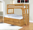 Discovery World Furniture Honey Convertible Bed Twin over Full
